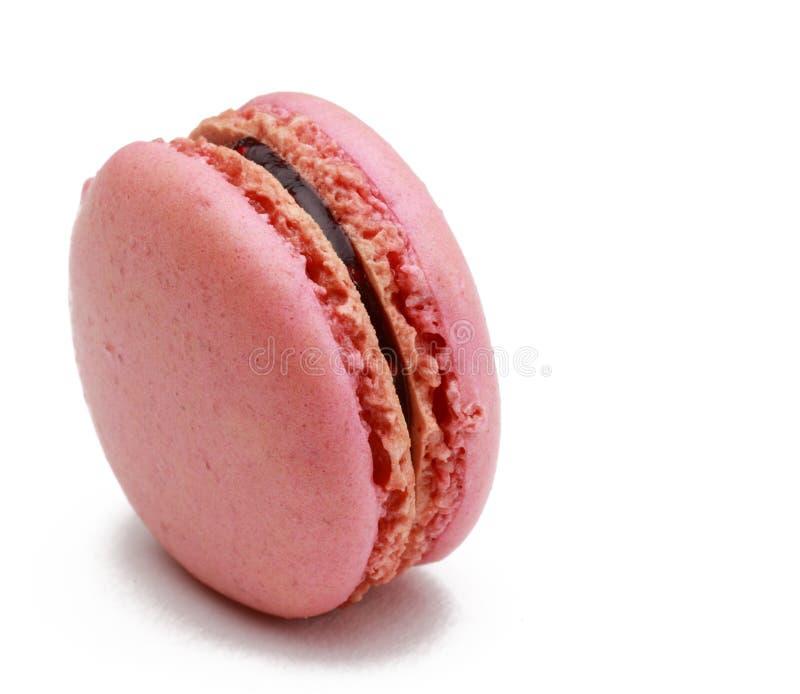 Macaron Cor-de-rosa Foto de Stock