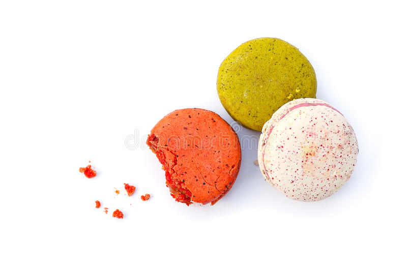 Macaron. French dessert isolated from white background stock image