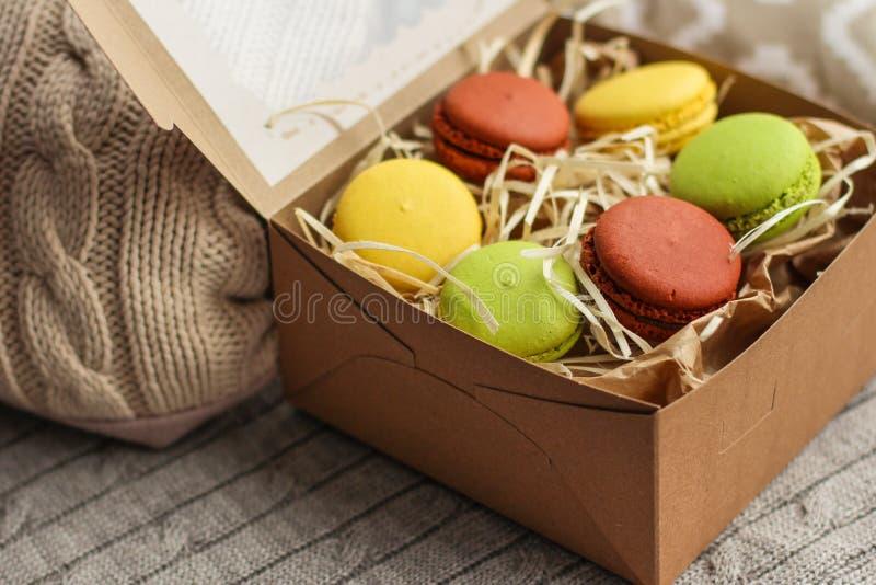 Macaron, galleta de los macarrones, postre sabroso foto de archivo