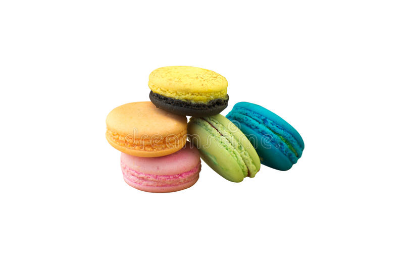 macaron macaroon on a white background stock photos