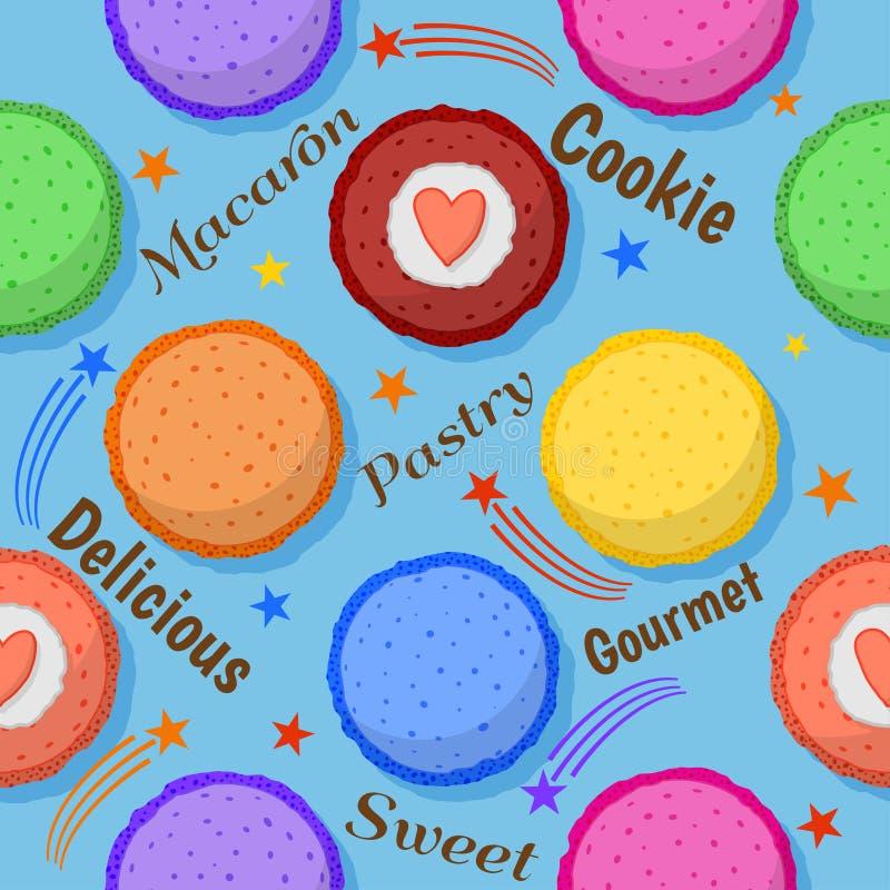 Macaron naadloos patroon stock afbeelding