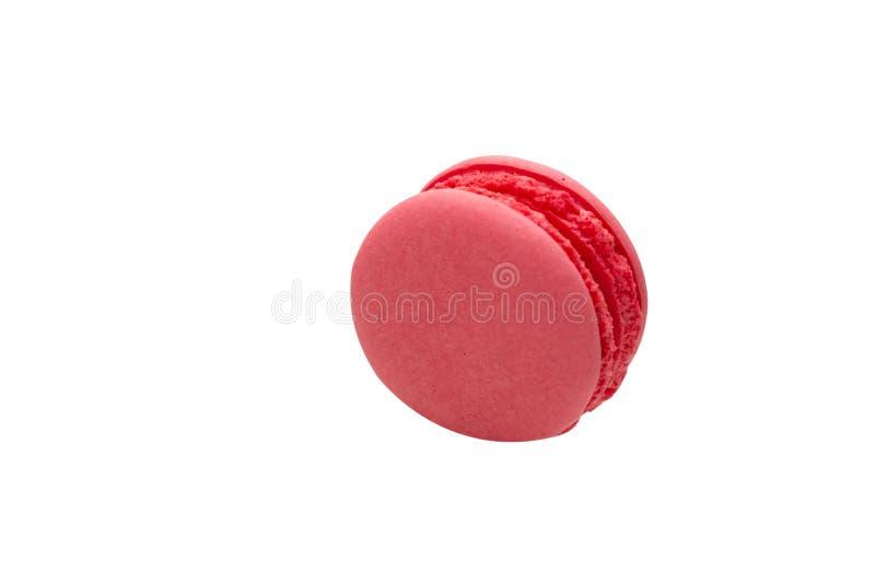 Macaron rose d'isolement sur le fond blanc photos libres de droits