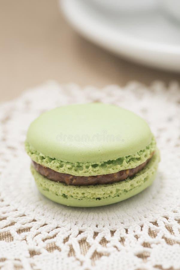 Macaron a servi au thé d'après-midi photographie stock