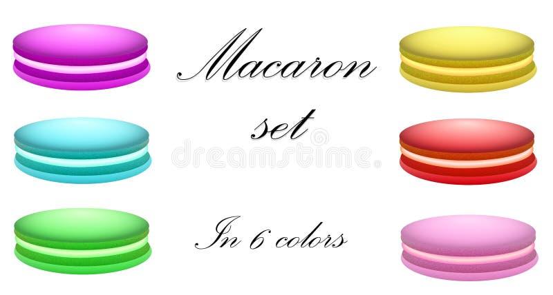 Macaron set in 6 colors. royalty free stock photos