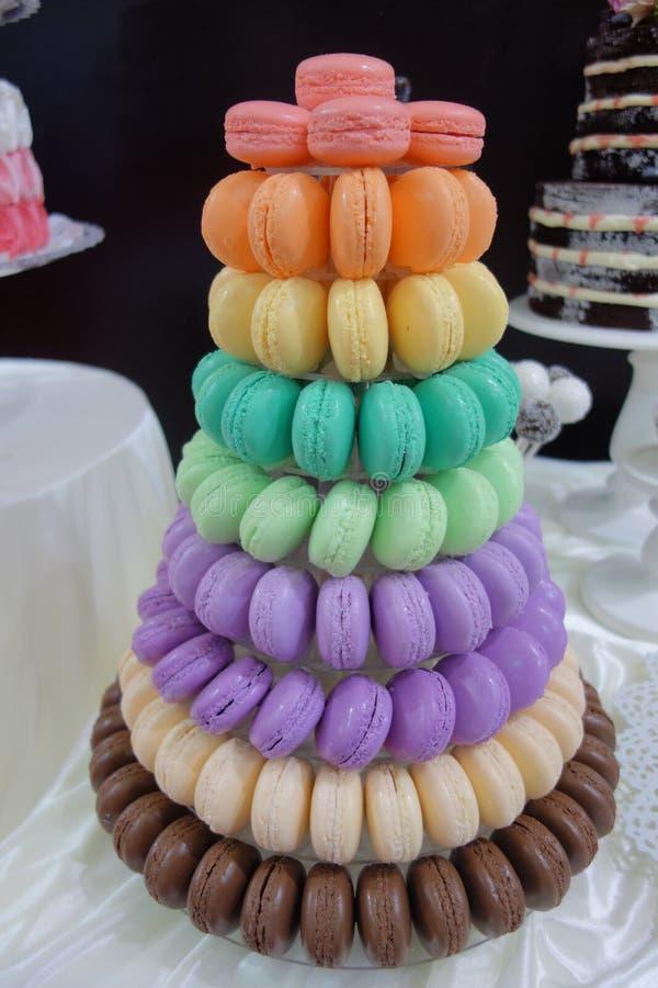 Macaron tower royalty free stock photo