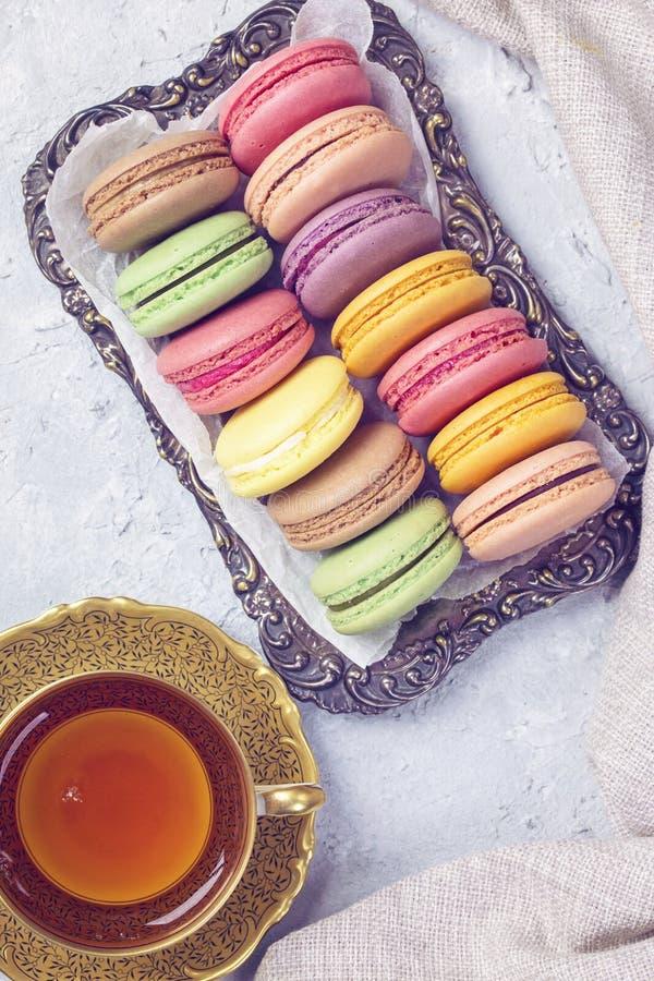 Macarones coloridos fotos de archivo