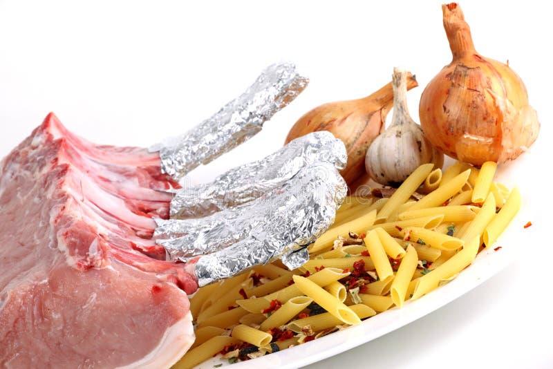 Macaroni και κρέας στοκ φωτογραφία με δικαίωμα ελεύθερης χρήσης