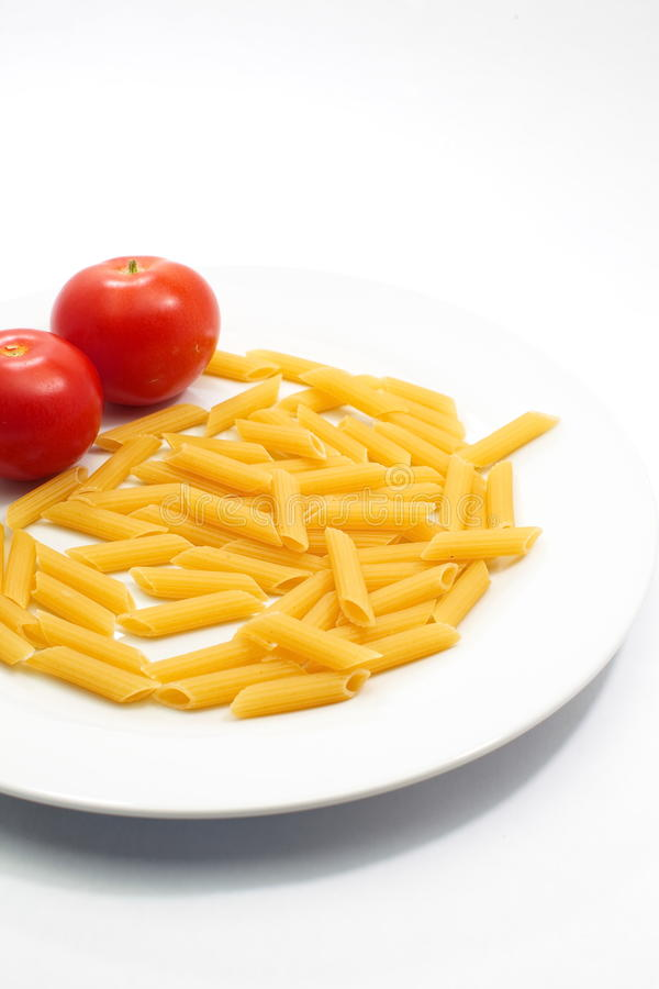 Macaroni και ντομάτα στοκ εικόνα