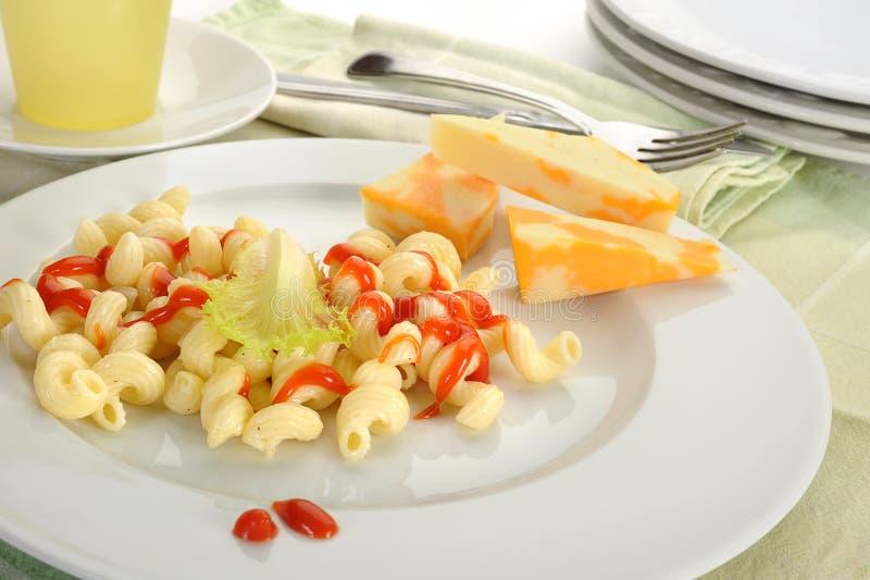Macaroni και τυρί στοκ εικόνες με δικαίωμα ελεύθερης χρήσης