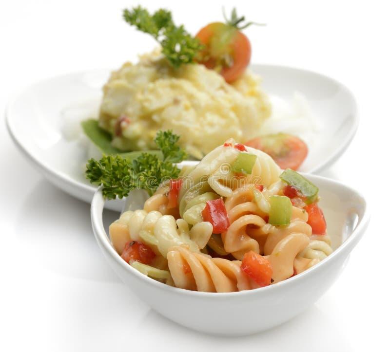 macaroni σαλάτα πατατών στοκ εικόνες