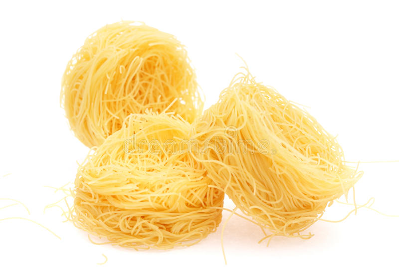 macaroni φωλιά στοκ εικόνα