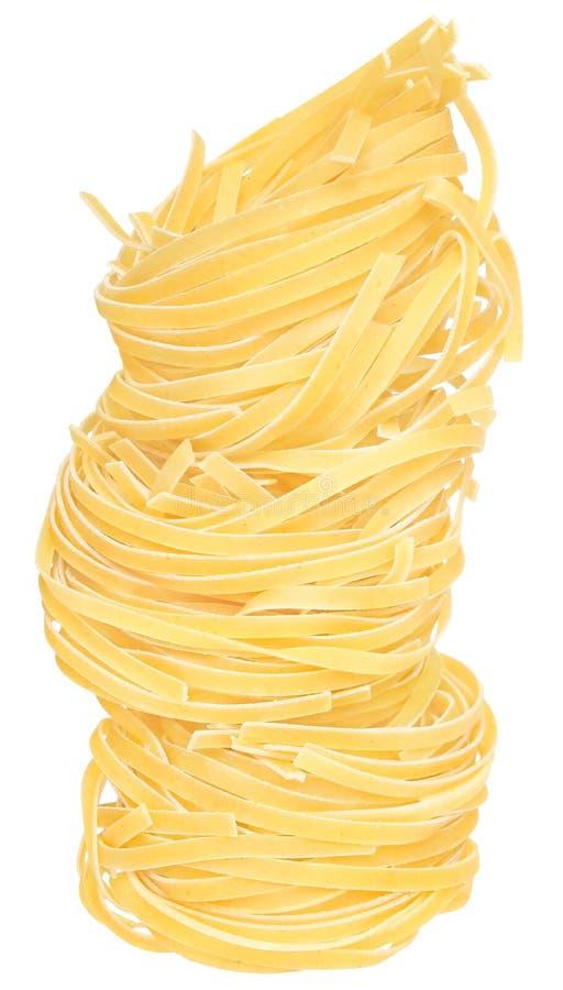 Macaroni. Close up on a white background stock image