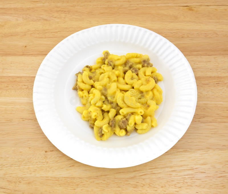 Macaroni and cheese with meat stock photography
