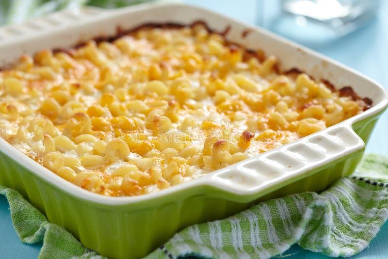 Macaroni and cheese royalty free stock photo