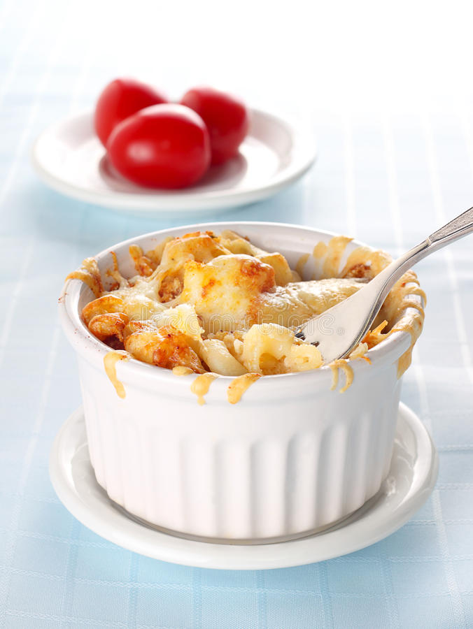 Macaroni en kaas stock afbeelding