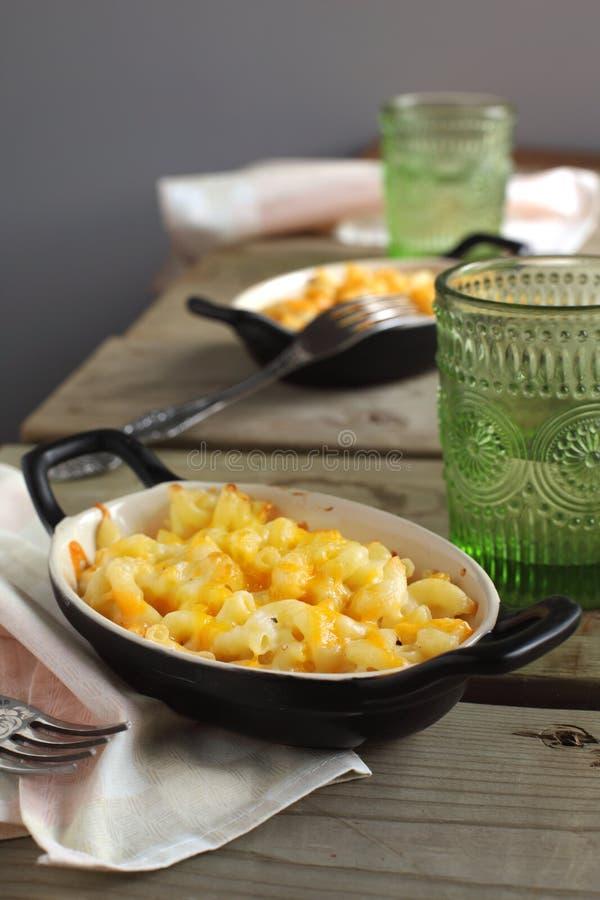 Macaroni och ost royaltyfri fotografi