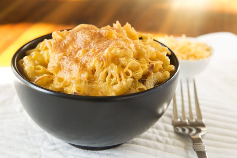 Macaroni och ost royaltyfri foto