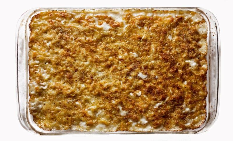Macaronis et fromage cuits au four photos stock