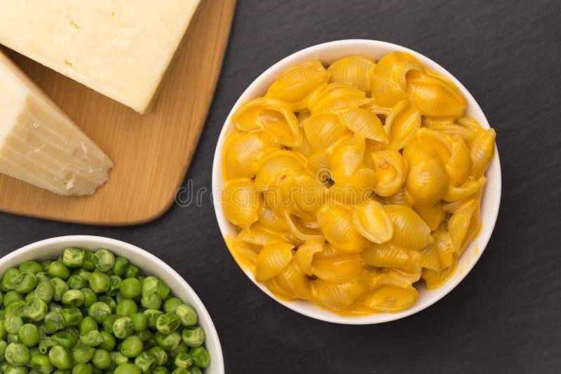 Macaronishells en Kaas royalty-vrije stock afbeeldingen