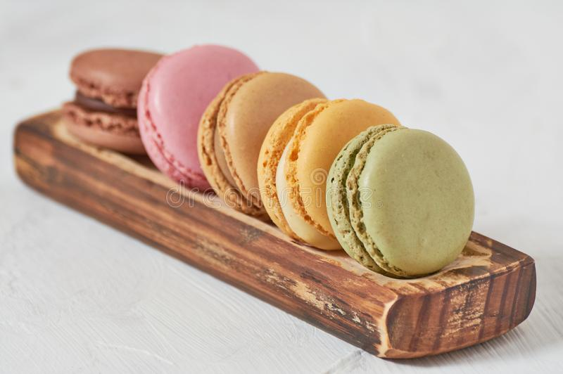 macarons木藤条早餐  免版税库存图片