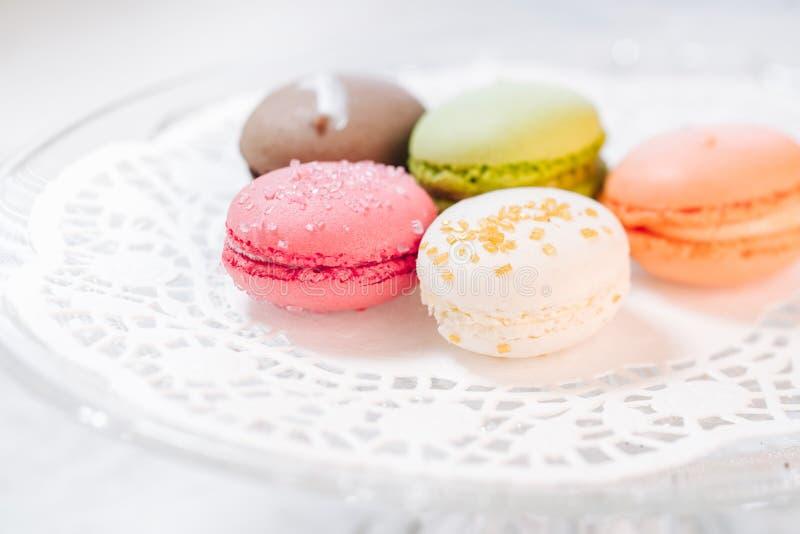 Macarons法式酥皮点心 库存照片