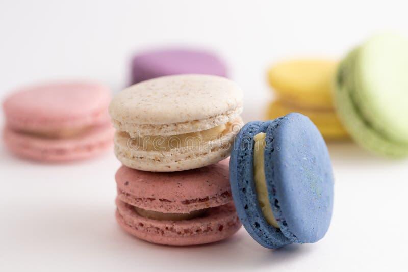 Macarons糖果点心精美Macaron 免版税库存图片