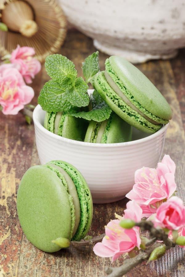 Macarons зеленого чая стоковая фотография