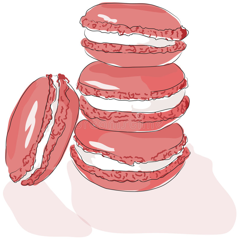 Download Macarons stock illustration. Image of framboise, patisserie - 5834623