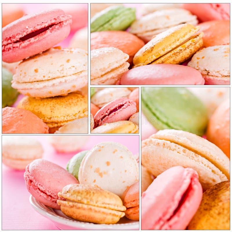 Macarons Collage royaltyfria foton