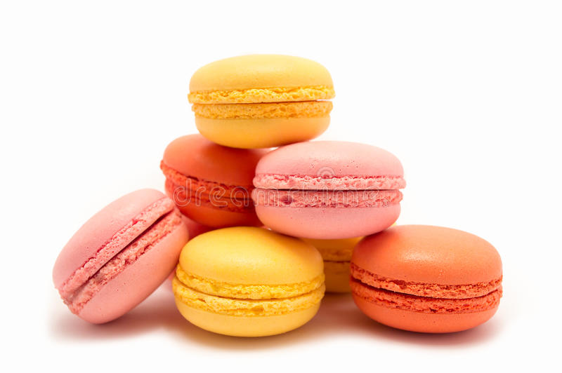 Macarons coloré image stock