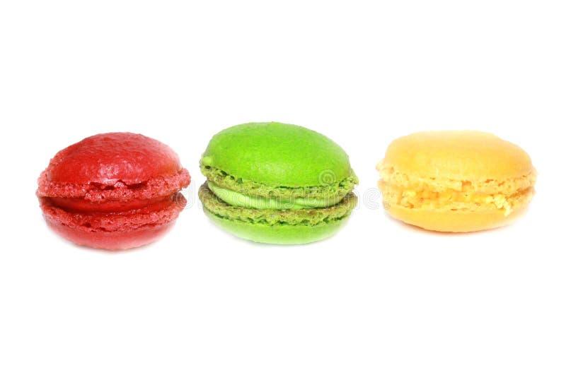 Macarons colorés d'isolement photo libre de droits