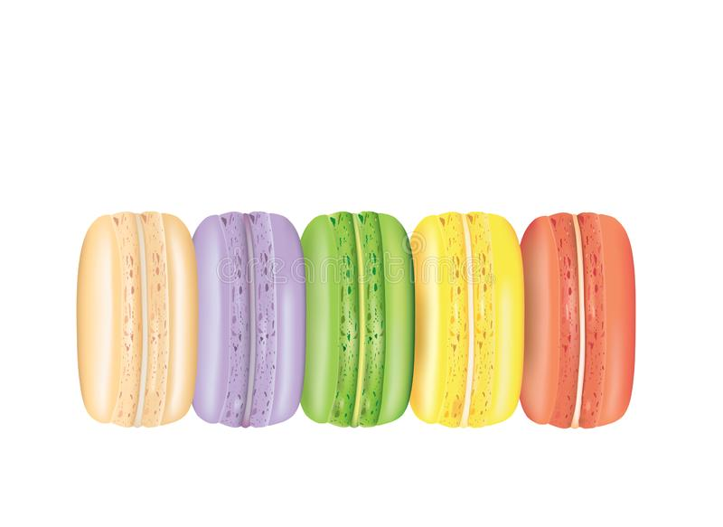 Macarons cookie set. Vector illustration stock illustration
