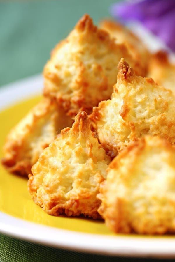 Macarons de noix de coco images libres de droits