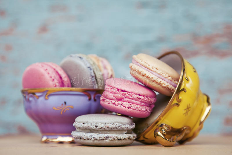 Macarons dulces fotos de archivo libres de regalías