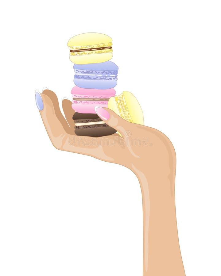 Macarons frais illustration stock