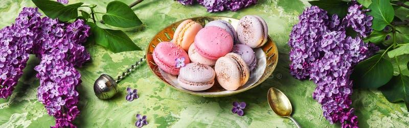 Macarons français doux photos libres de droits
