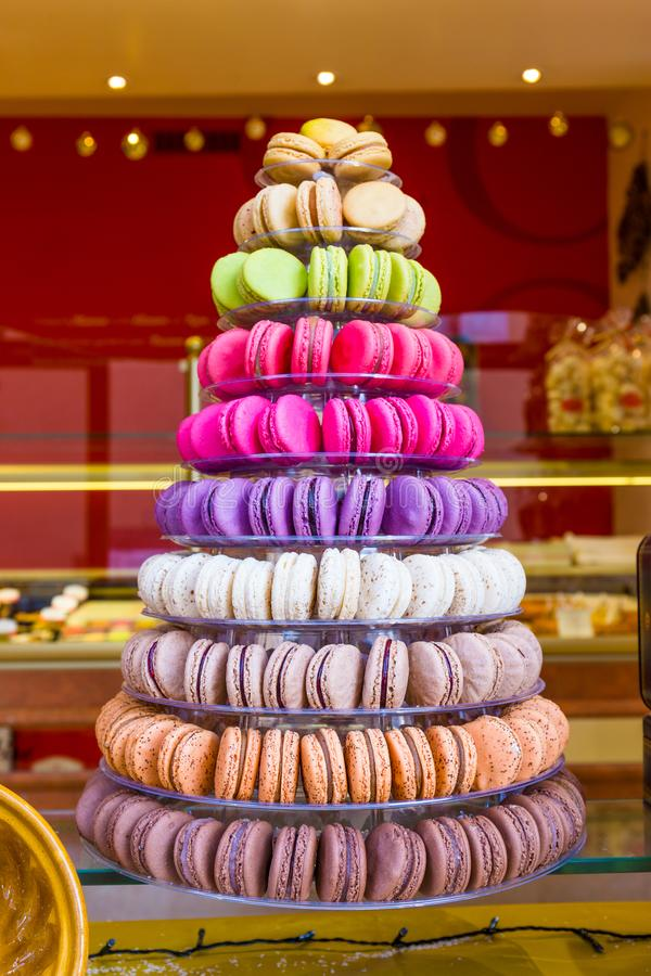 Macarons fran?ais traditionnels photographie stock