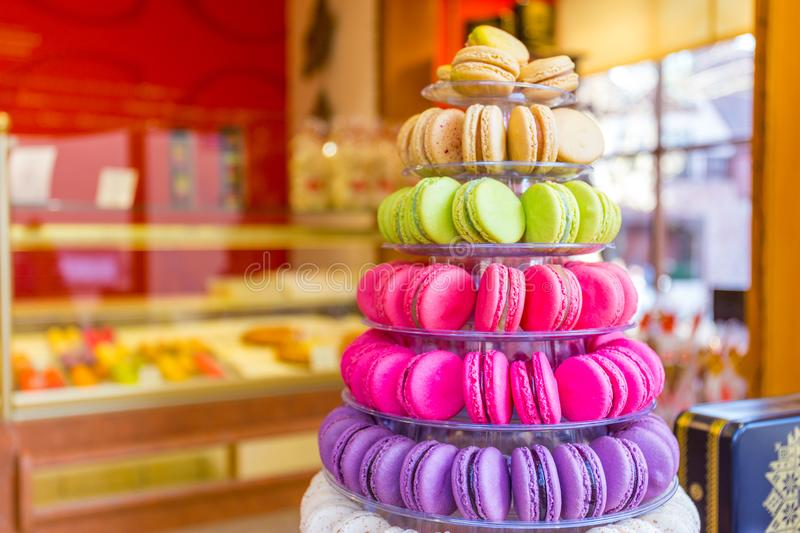 Macarons fran?ais traditionnels photo stock