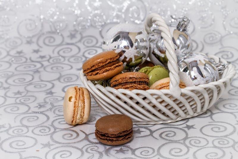 Macarons franceses imagens de stock royalty free