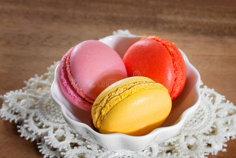 Macarons franceses imagens de stock