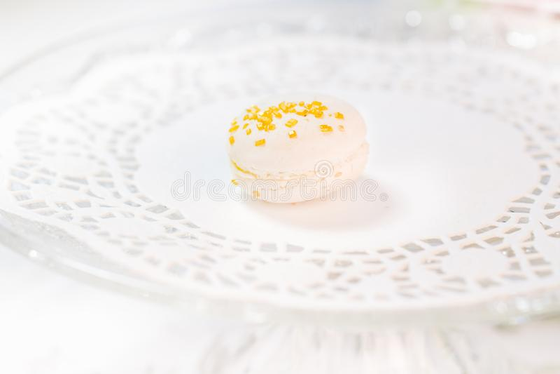 Macarons francuscy ciasta fotografia stock