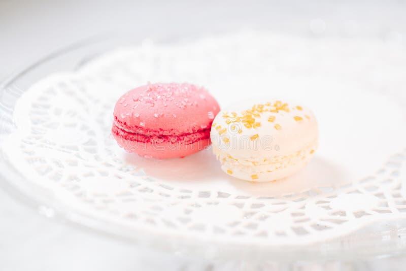 Macarons francuscy ciasta obraz royalty free