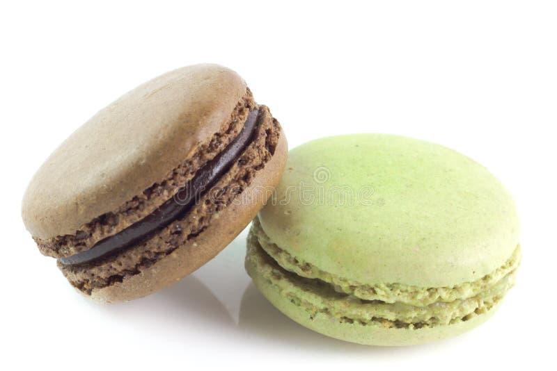 Macarons i olika färger royaltyfri fotografi