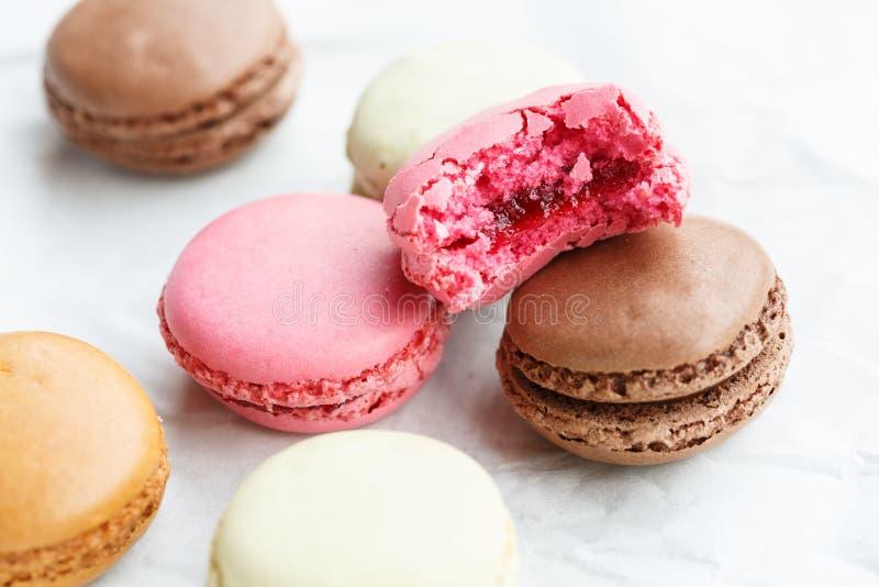 Macarons (kleine Franse cake) royalty-vrije stock foto