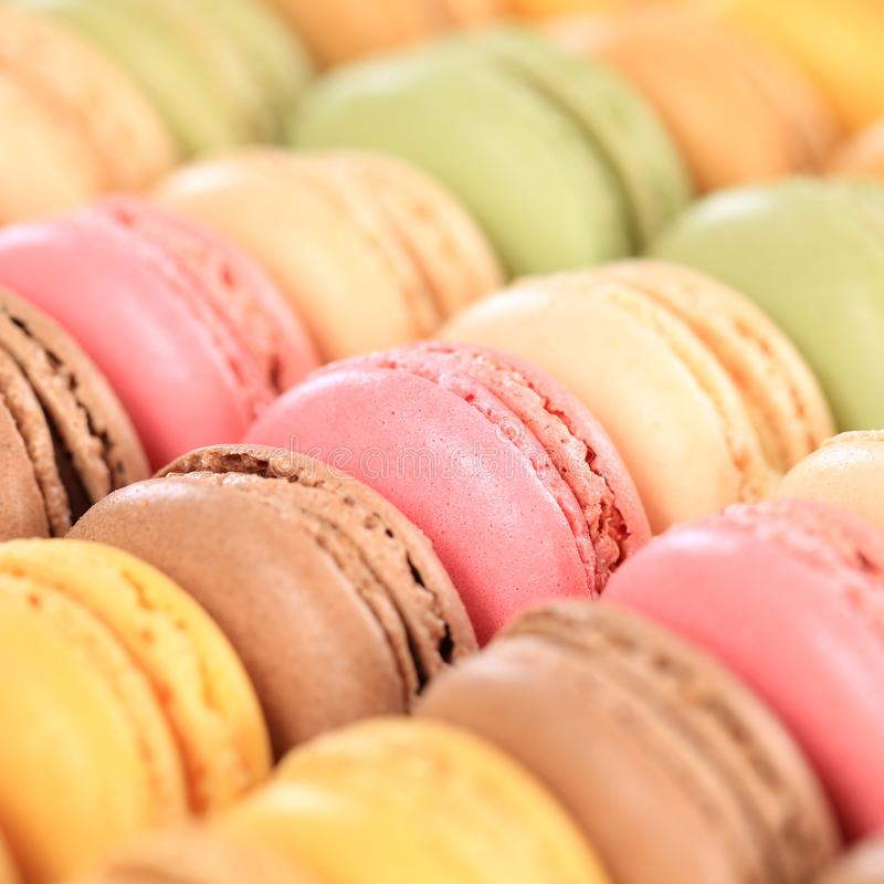 Free Macarons Macaroons Cookies Square Dessert From France Royalty Free Stock Photos - 99520948