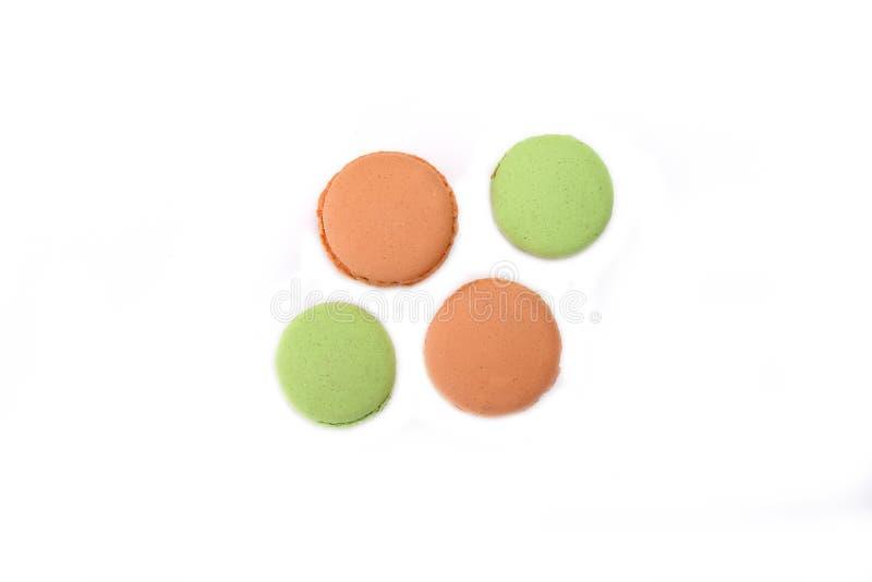 Macarons oranges et verts image libre de droits