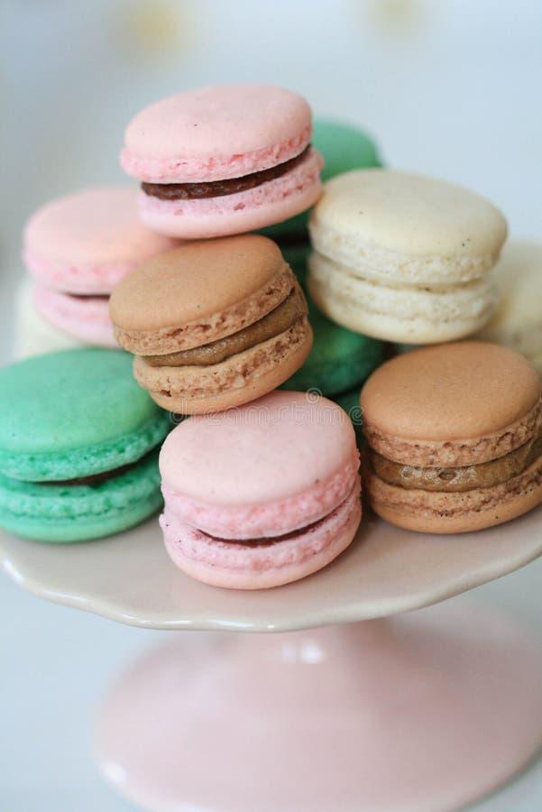 Macarons parigini fotografia stock