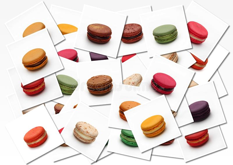 Macarons-Plakat lizenzfreies stockfoto