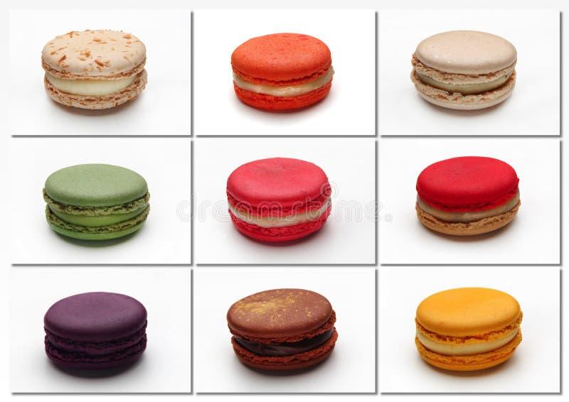 Macarons-Plakat lizenzfreie stockfotos
