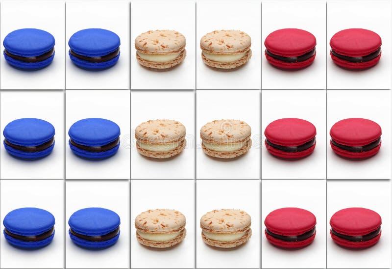 Macarons-Plakat lizenzfreie stockbilder